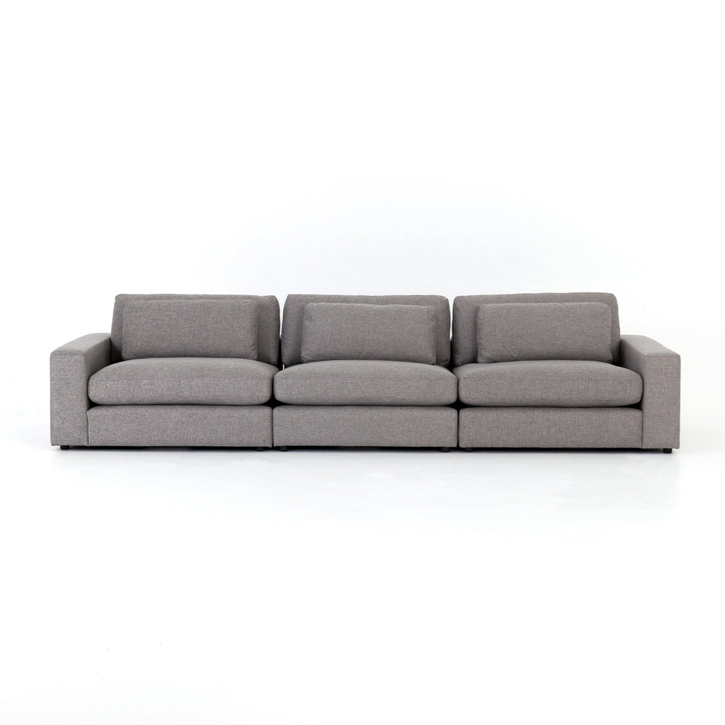 Bloor 3-Pc Sectional in Chess Pewter