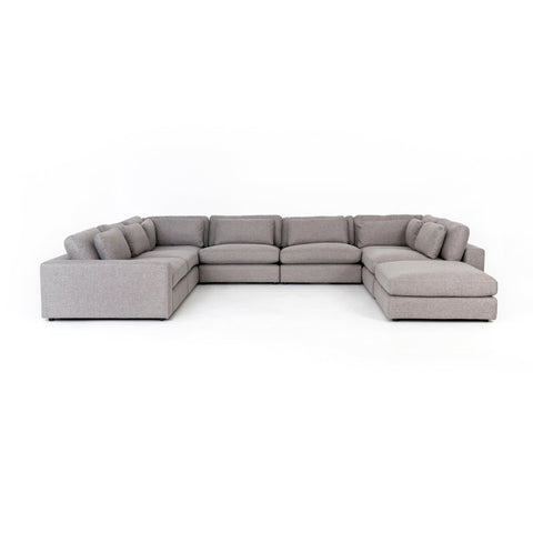 Bloor 7-Pc Sectional W/ Ottoman in Chess Pewter