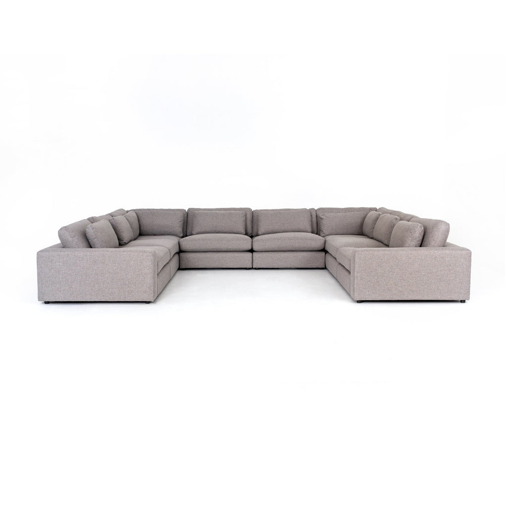 Bloor 8 Pc Sectional In Chess Pewter