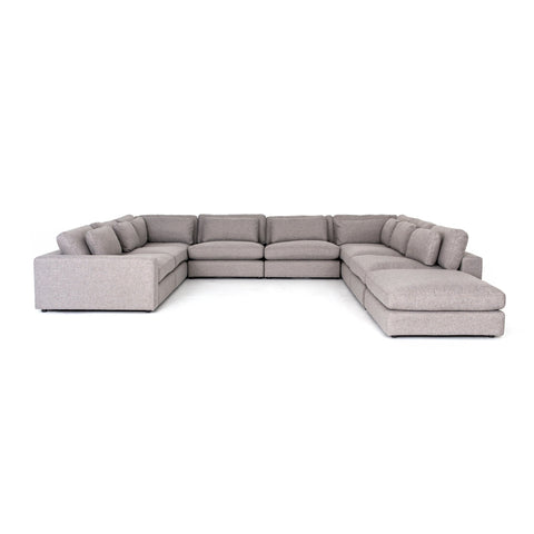 Bloor 8-Pc Sectional W/ Ottoman in Chess Pewter