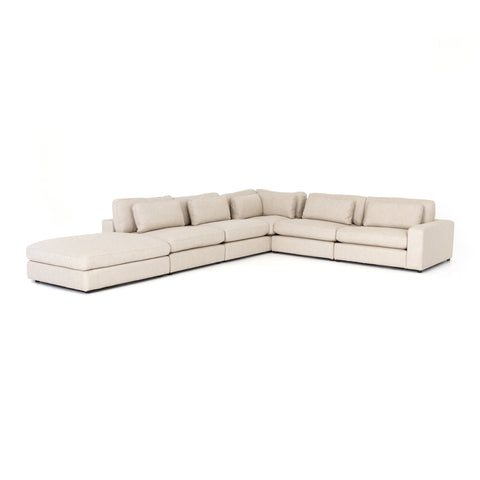 Bloor 5-Pc Sectional W/ Ottoman in Essence Natural