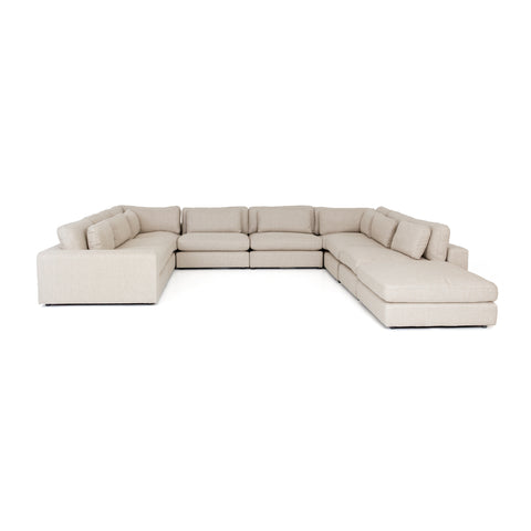 Bloor 8 Piece Sectional with Ottoman in Essence Natural