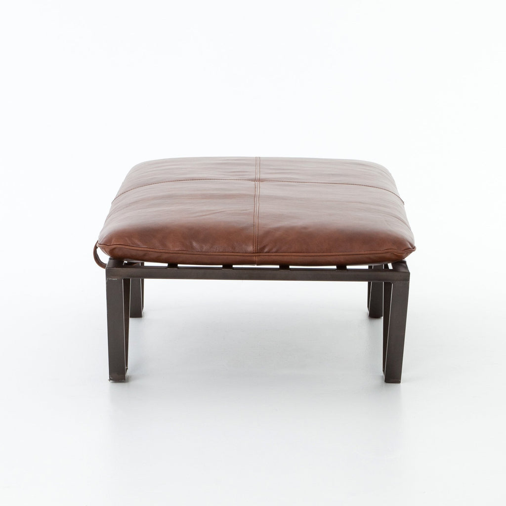 Darrow Ottoman in Wax Pullup Tan by BD Studio