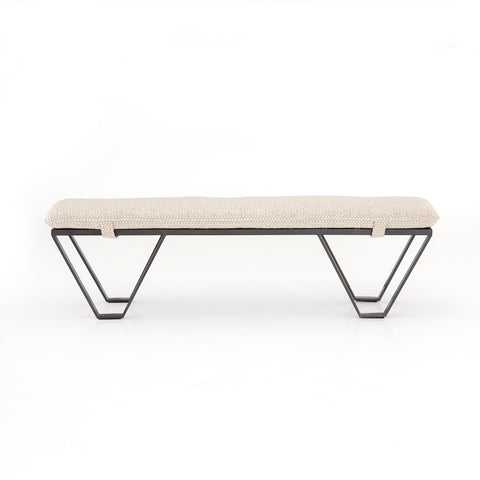 Darrow Bench In Perin Oatmeal