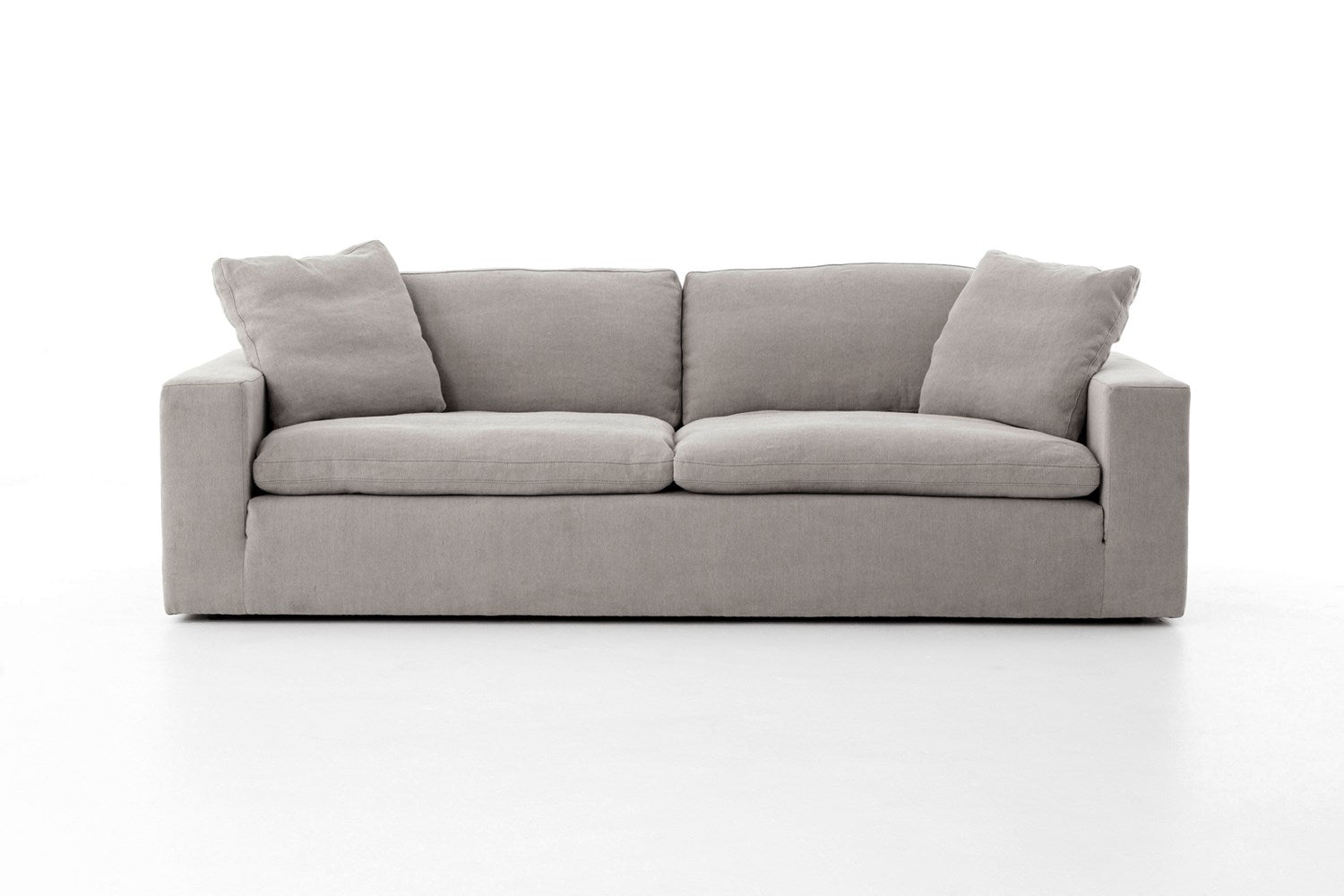 Plume Sofa in Heather Twill Pewter