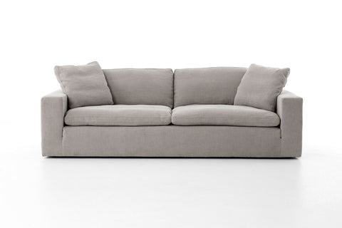 Plume Sofa in Heather Twill Pewter by BD Studio