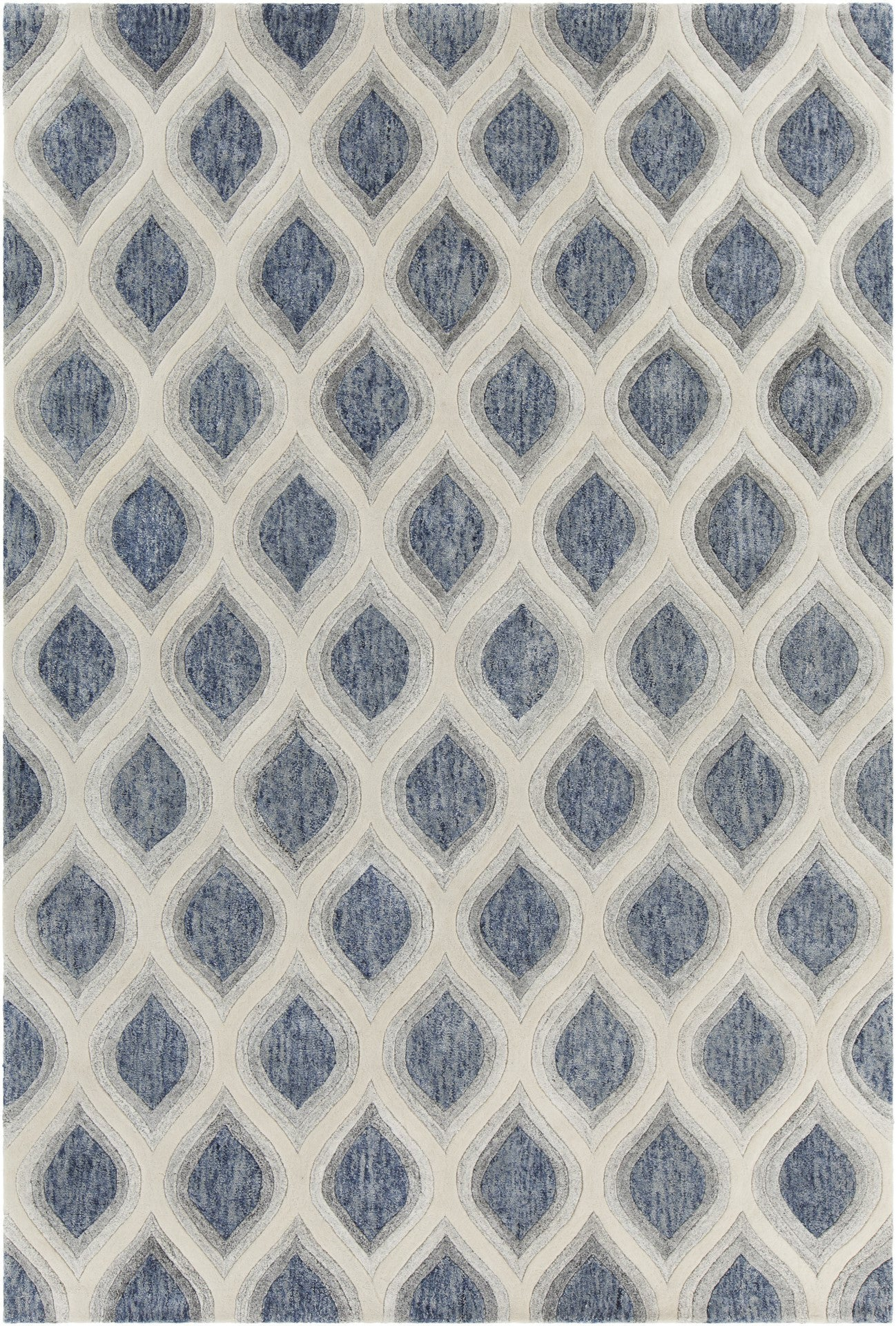 Clara Collection Hand Tufted Area Rug In Blue, Grey, U0026 White Design By  Chandra Rugs