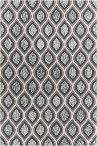 Clara Collection Hand-Tufted Area Rug in Grey & White design by Chandra rugs