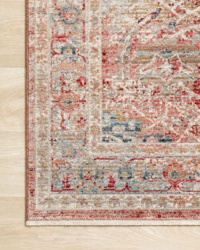 Claire Rug in Red & Ivory by Loloi