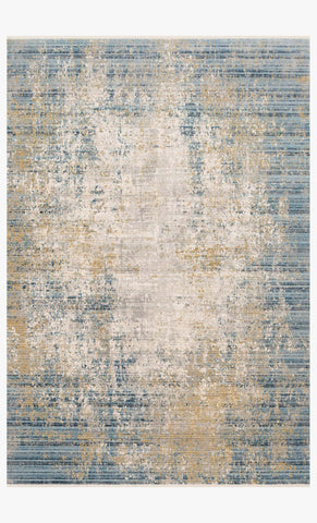 Claire Rug in Neutral & Sea by Loloi