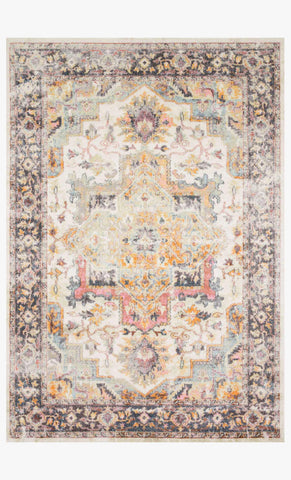 Clara Rug in Ivory & Charcoal by Loloi