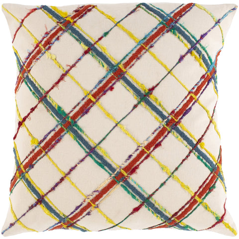 Callie CLI-002 Woven Square Pillow in Burnt Orange & Butter by Surya
