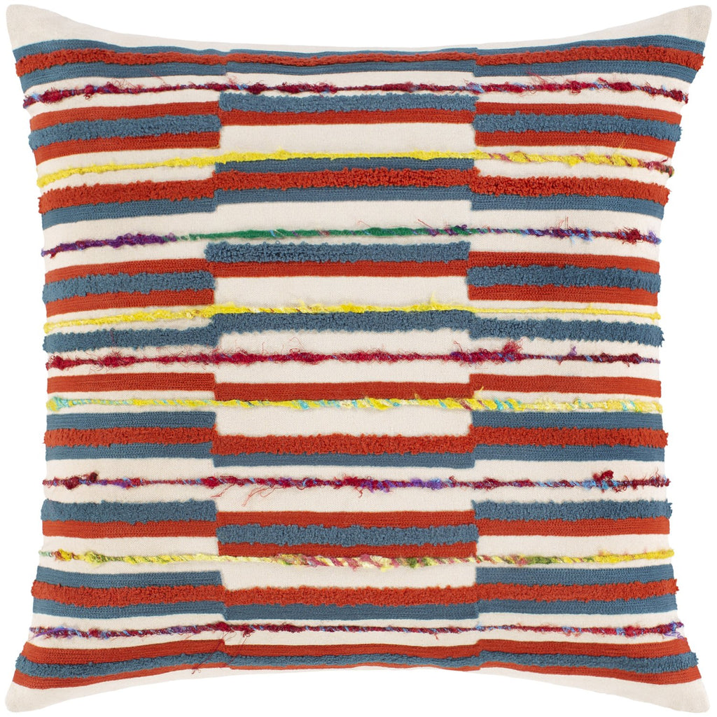 Callie CLI-003 Woven Square Pillow in Burnt Orange & Butter by Surya