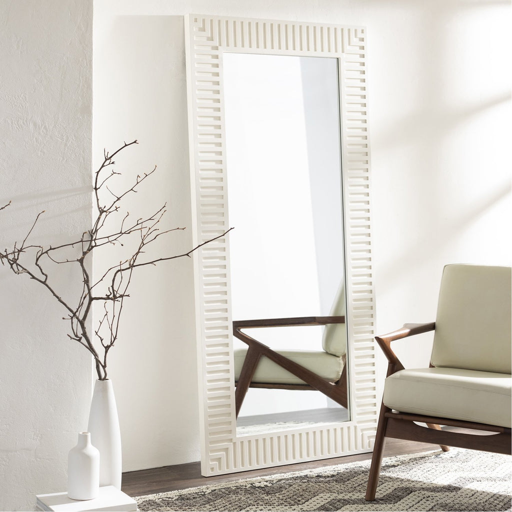 Colossae CLO-001 Rectangular Mirror in White by Surya