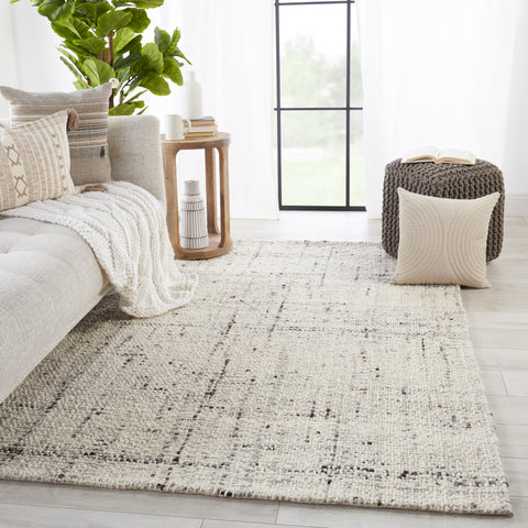 Season Handmade Solid Grey & Ivory Rug by Jaipur Living