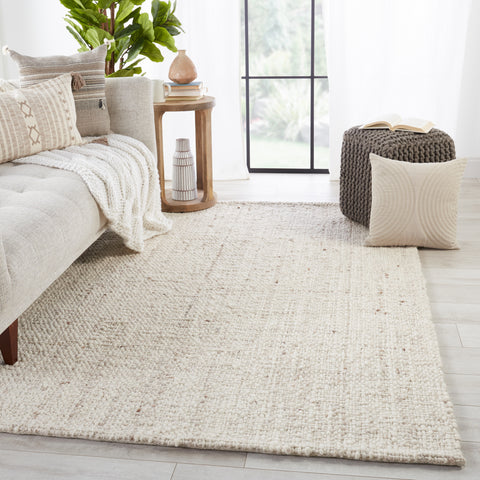 Season Handmade Solid Cream & Tan Rug by Jaipur Living