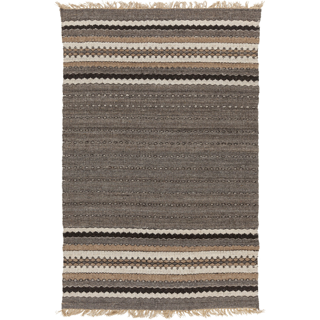 Camel Rug in Dark Brown & Khaki