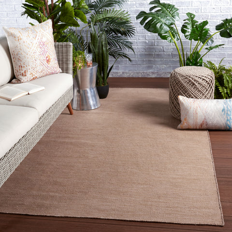 Sunridge Indoor/Outdoor Solid Tan Rug by Jaipur Living