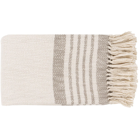 Chamonix CMX-1000 Hand Woven Throw in Taupe by Surya
