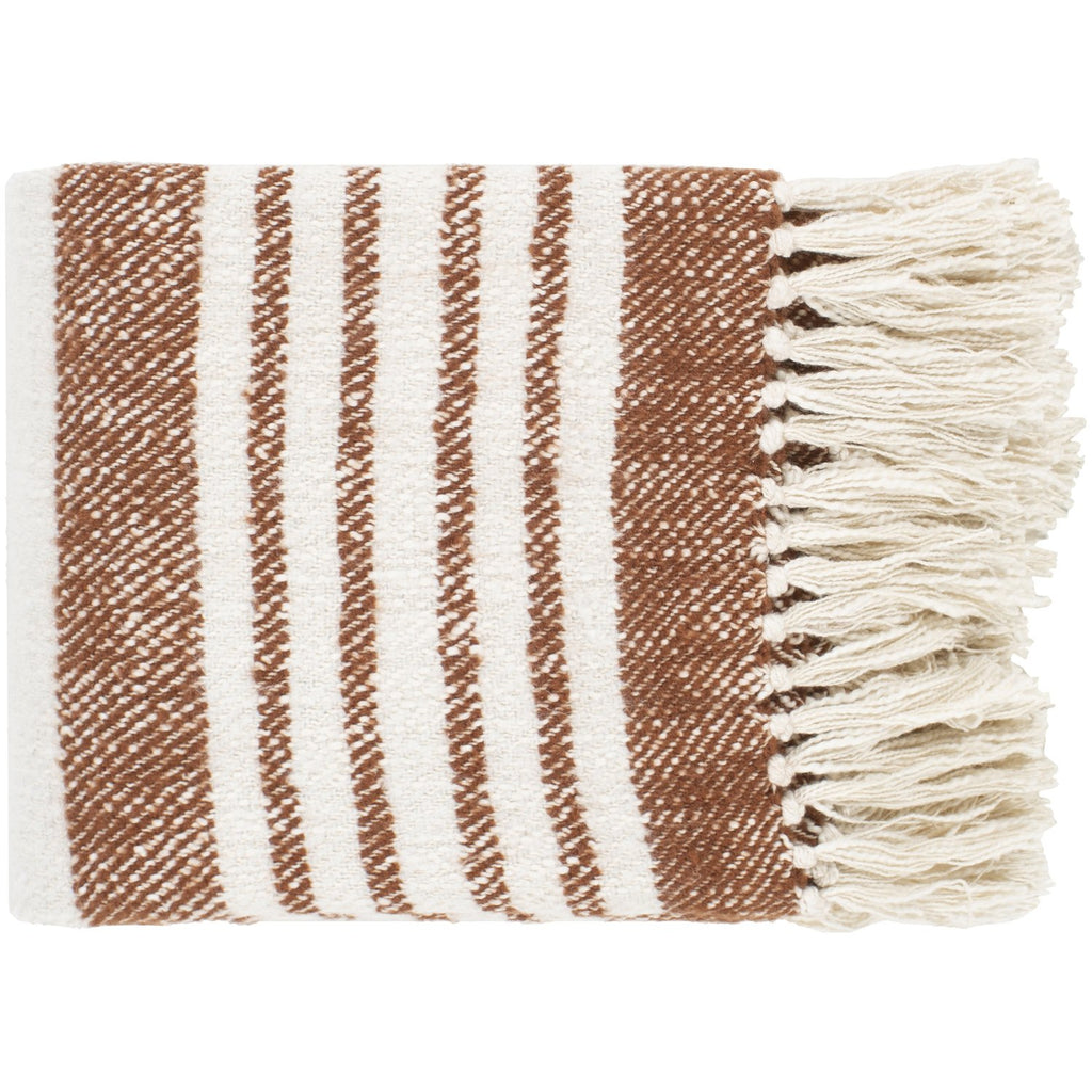 Chamonix CMX-1001 Hand Woven Throw in Burnt Orange by Surya