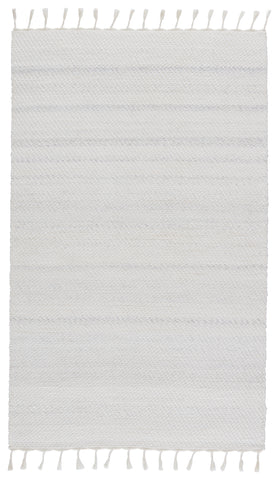 Encanto Indoor/Outdoor Solid White & Light Grey Rug by Jaipur Living