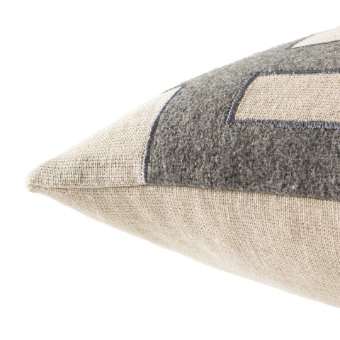 Cosmic Pillow in Oatmeal & Charcoal Grey design by Nikki Chu