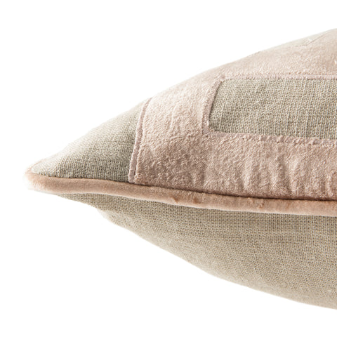 Ordella Beige & Pink Geometric Throw Pillow