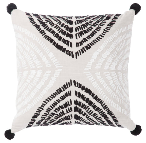 Angelika Pillow in Moonstruck & Bright White design by Nikki Chu by Jaipur Living