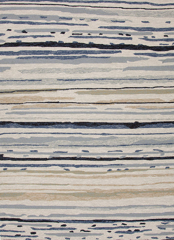 Colours Collection Sketchy Lines Rug in Classic Grey design by Jaipur