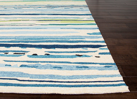 Colours Collection Sketchy Lines Rug in Blue & White design by Jaipur