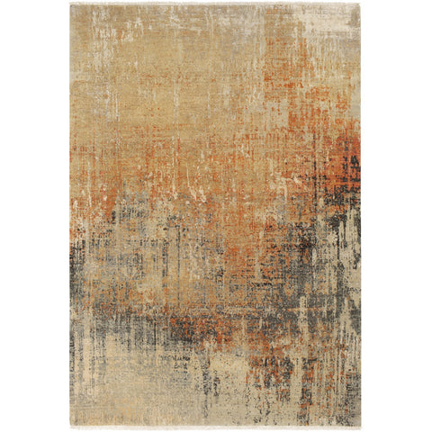 Colaba COA-2005 Hand Knotted Rug in Burnt Orange & Rust by Surya