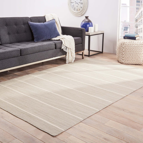 Cape Cod Stripe Rug in Paloma & Egret design by Jaipur