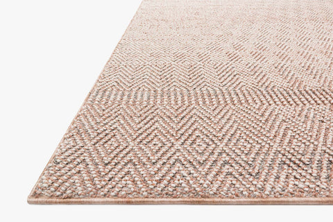Cole Indoor/Outdoor Rug in Blush & Ivory by Loloi