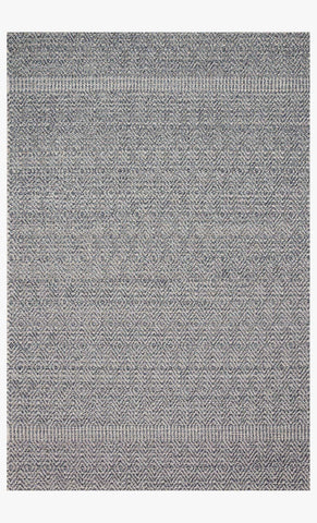 Cole Indoor/Outdoor Rug in Denim & Grey by Loloi