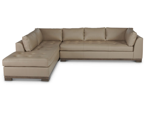 Colony Arm Left Sectional in Mushroom