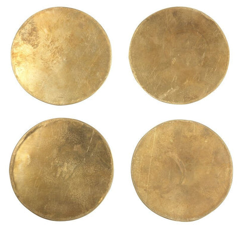 Set of 4 Brass Coasters design by Sir/Madam