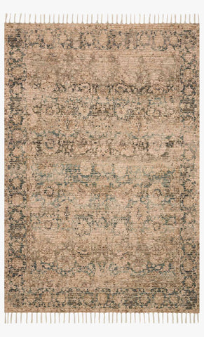 Cornelia Rug in Natural & Teal by Justina Blakeney for Loloi