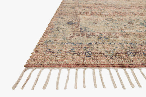 Cornelia Rug in Seafoam Green & Brick by Justina Blakeney for Loloi