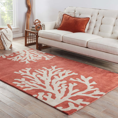 Bough Abstract Rug in Apricot Brandy & Doeskin design by Jaipur Living