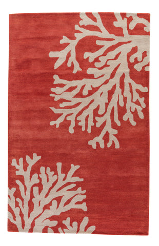 Bough Abstract Rug in Apricot Brandy & Doeskin design by Jaipur