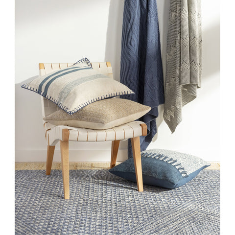 Copen CPN-1000 Knitted Throw in Dark Blue by Surya