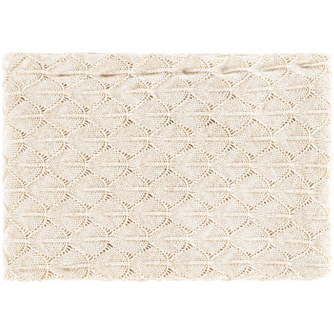 Captiva CPV-1000 Knitted Throw in Champagne by Surya