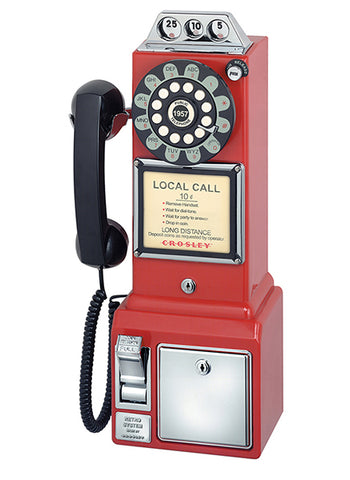 1950's Classic Pay Phone - Red