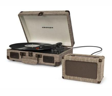 Crosley Cruiser Deluxe Turntable With Bluetooth - Havana Fabric design by Crosley