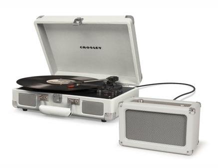 Crosley Cruiser Deluxe Turntable with Bluetooth - White Sand design by Crosley