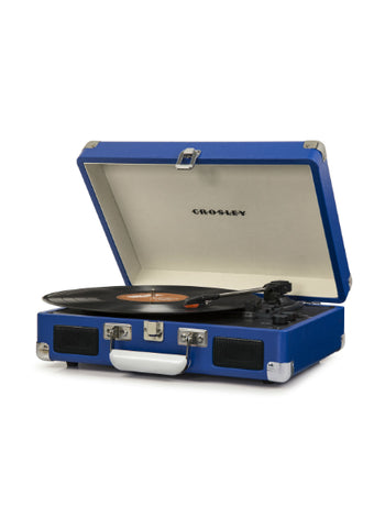 Crosley Cruiser Deluxe Turntable With Bluetooth - Blue Vinyl design by Crosley