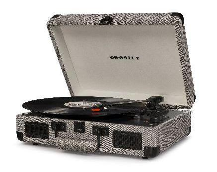 Crosley Cruiser Deluxe Turntable With Bluetooth - Herringbone design by Crosley