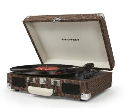 Crosley Cruiser Deluxe Turntable with Bluetooth - Tweed Vinyl design by Crosley