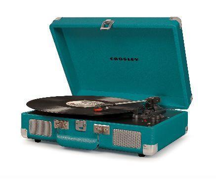Crosley Cruiser Deluxe Turntable with Bluetooth - Teal design by Crosley