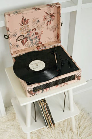 Voyager Portable Turntable - Floral